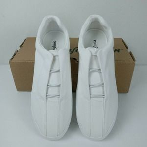 Comfortview canvas Bungee slip on sneaker shoes